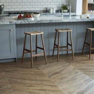 Amtico wood flooring in the kitchen